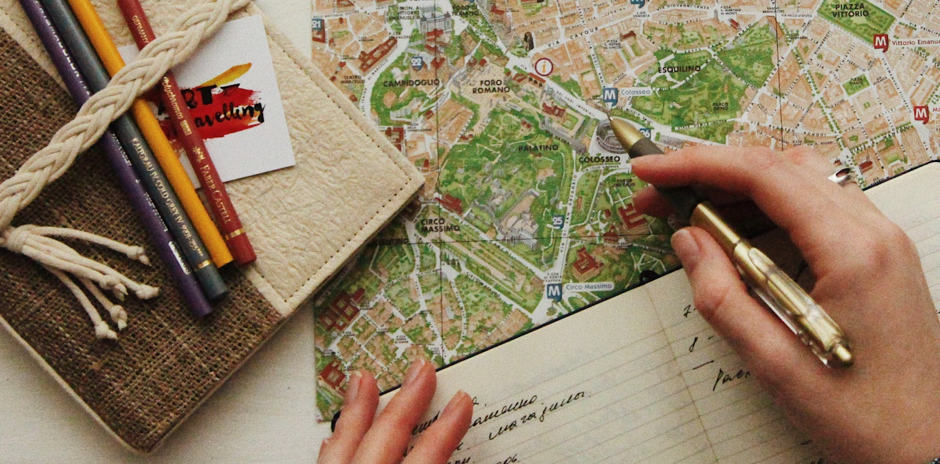 photo showing someone planning things on a map to represent preparing for death
